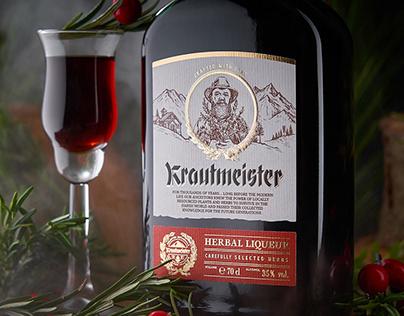 Herbal Liqueur Label Design - Krautmeister