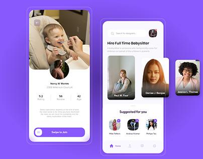 Babysitting App UI