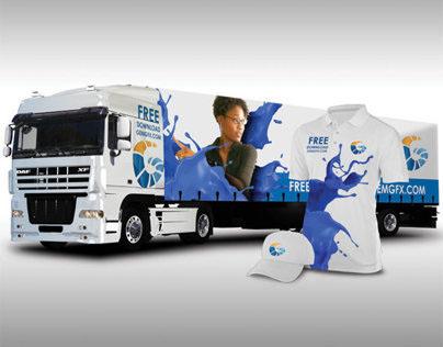 GemGfx Semi Truck and Uniform Mockup