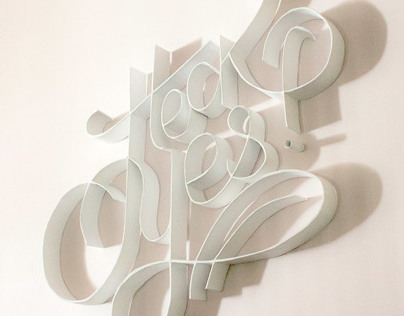 Heck Yes. A typographic installation.