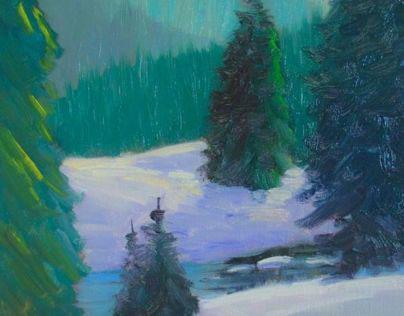 Idaho Sawtooths in Winter