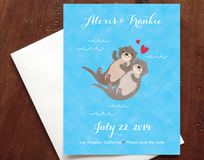 Otter Wedding Invitations