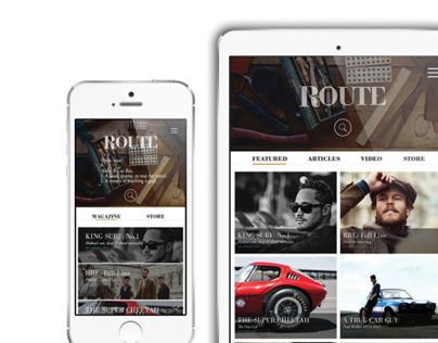 Route Magazine + Mobile Design
