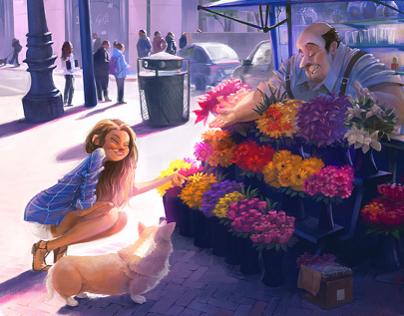 Flower Shop on Market St.
