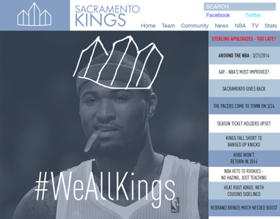 Sacramento Kings Rebrand / We All Kings Campaign