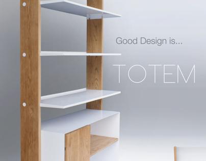 Totem Shelf Design for Braun