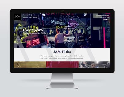 Jam Flicks branding and website design