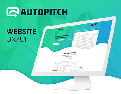 AutoPitch Parallex Website