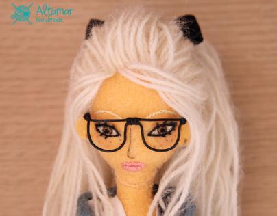 Martina. Handmade doll