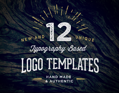 12 Typography Based Logo Templates