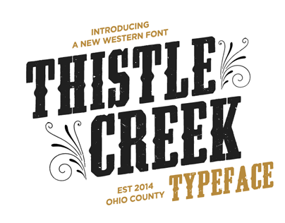 Thistle Creek Font