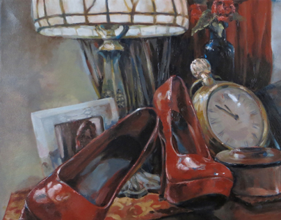 Red Shoes and Brass Clock