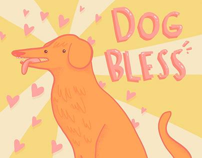 Dog Bless illustration