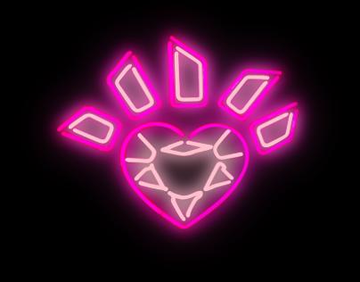 Neon Heart Animation