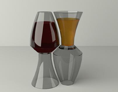 Reversible Muqarnas Glasses for Randa Fahmy