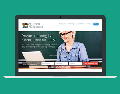 Tutors Nirvana | Startup Website Redesign