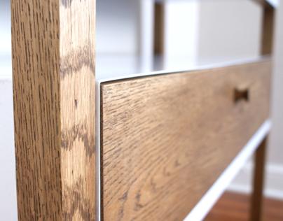 Freestanding Shelf Design