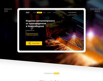 Prototype of Metal Rolling website