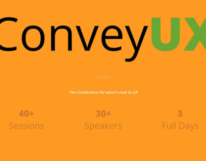 Convey UX Conference Site