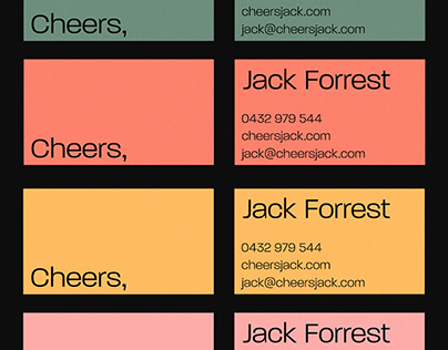 Cheers — Personal Brand