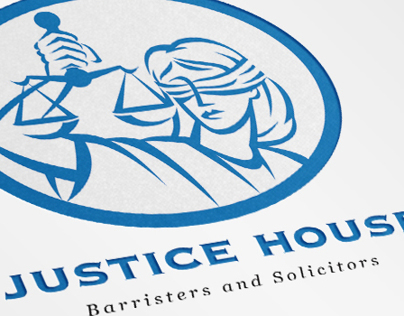 Justice House Barristers and Solicitors Logo Template
