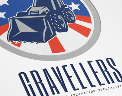 Gravellers Earthmoving Specialists Logo Template