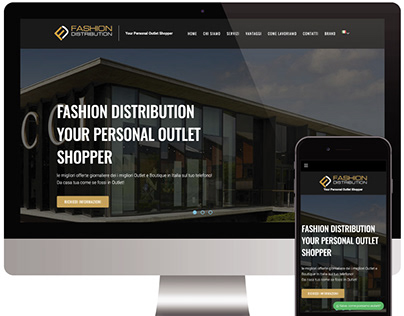 "Sito web vetrina ""Fashion Distribution"""