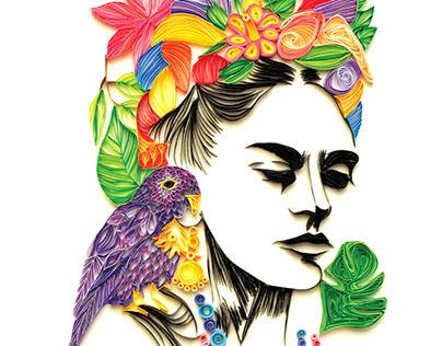 """""""Frida Kahlo"""" Quilling Paper"""