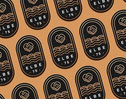 Logo for the «Elba 75» event
