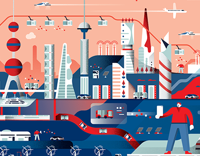 GSMA - Future city illustration