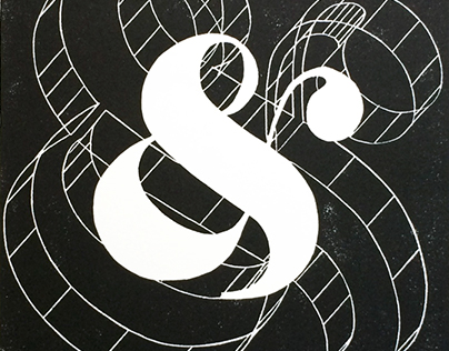 """""""Counter/Space"""", linocut, 2017."""