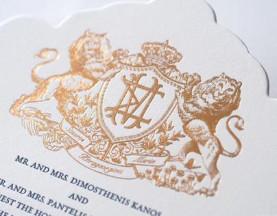 Regal Invitation with Lion Crest