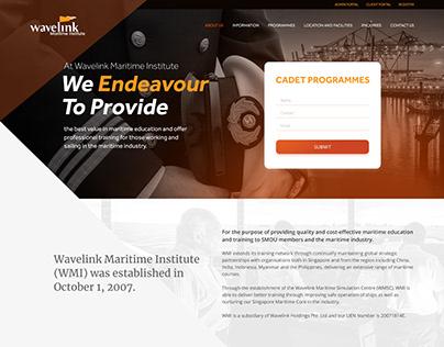 Wavelink Maritime Institute - Mockup Website Design