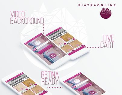 Piatra Online Mobile UI