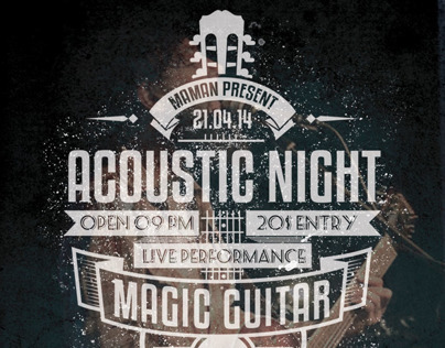 Acoustic Typography Flyer/Poster Vol.3