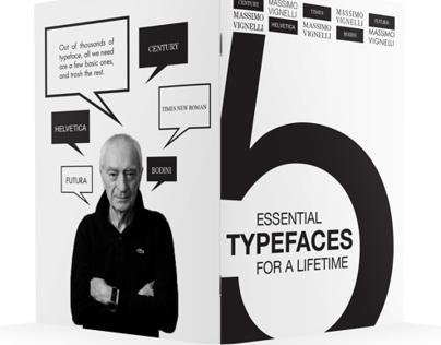 Massimo Vignelli | 5 Essential Typeface Zine book