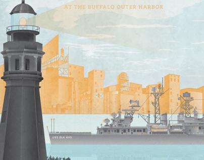 Black Keys Official Gig Poster For Buffalo, NY 2013