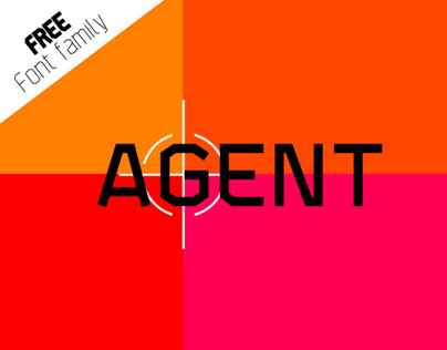 AGENT - New FREE font FAMILY. 16 Styles!