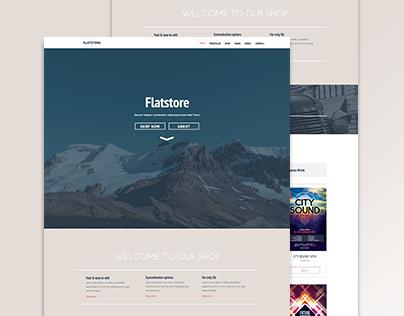 Flatstore - eCommerce Muse Theme