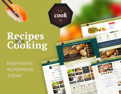 wpcook - Responsive Recipes & Cooking WordPress Theme