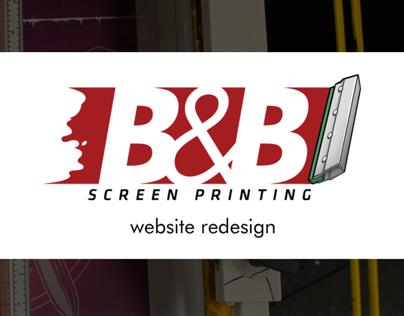 B&B Screenprinting Website Redesign