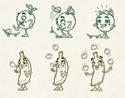 Fruit Characters McD