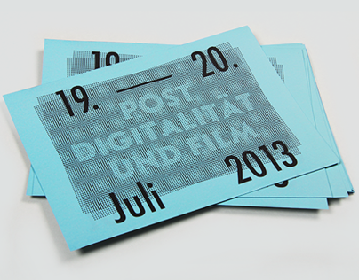 Postdigitalität und Film conference