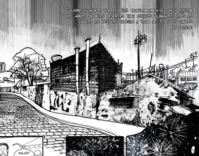 """The light"". A short comic about Sâo Paulo."