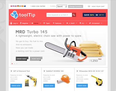 Tooltip - Free Joomla e-shop Template