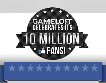 10 Million Fans of Gameloft Infographic Web App
