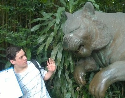 Nic and Tommy's un-enthusiastic Zoo Visit.