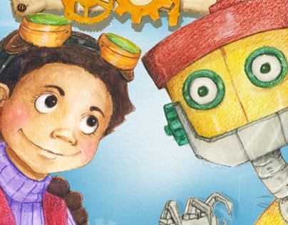 BRIDGET & BOT- Children's book illustration
