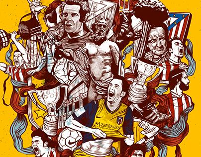Atletico de Madrid Editorial Illustrations