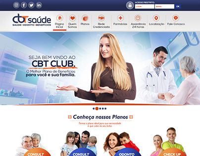 CBT Club Saúde - WebSite